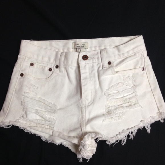 Forever 21 - Ripped High Waist Shorts from Mary's closet on Poshmark