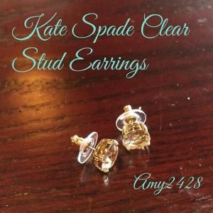 Host PickKate Spade Clear Stud Earrings