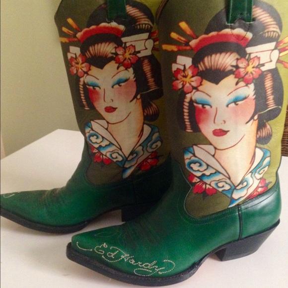 a383aae88e1 Ed Hardy Cowboy Boots