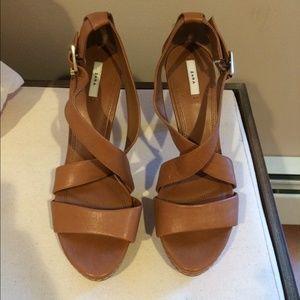 Zara leather strappy heel