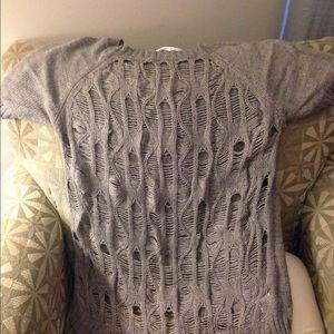 a968f52419dd Grey short sleeve sweater ...