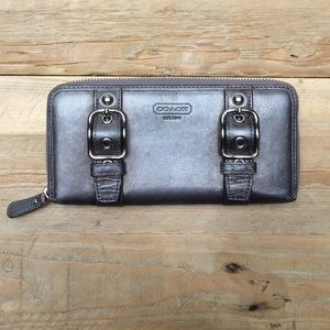 Coach Clutches & Wallets - Metallic Grey Coach Wallet