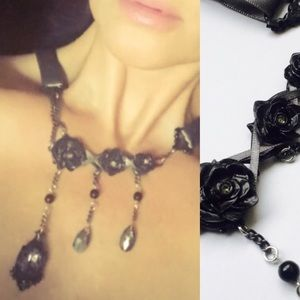 Retired Darkest Desires Swarovski Crystal Necklace