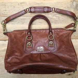 Coach Handbags - Authentic Coach Brown Leather Hand Bag