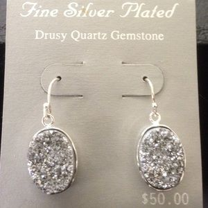 Sale - Earrings- Quartz Gemstones.