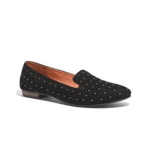 Madewell suede studded loafers