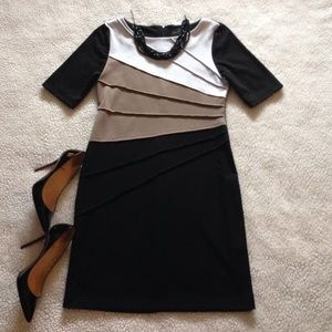 Connected Apparel Dresses & Skirts - Colorblock Striped Dress