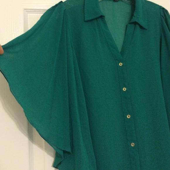 Forever 21 Green Blouse 41