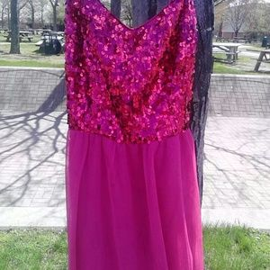 Hailey Logan Dresses & Skirts - *CLEARANCE * Fuscia sequin tulle dress (NWOT)