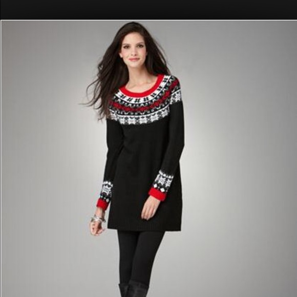88% off Style & Co Sweaters - Style & Co Fair Isle Tunic Sweater ...