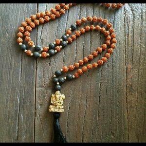 Rudraksha Prayer Bead Necklace – Jai Ganesha