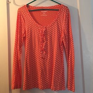 Old navy polka dot Henley size M