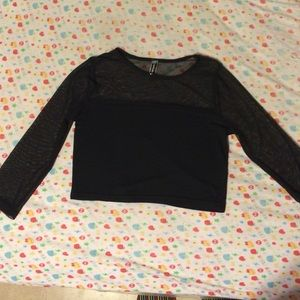 Poof couture Tops - Black grunge crop top