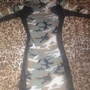 0f466dc63357c Dresses | Hott Army Fatigue Bodycon Dress | Poshmark