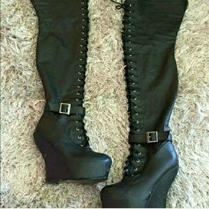 Boots - Sexy thigh high platform boots!