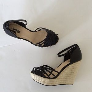 Charlotte Russe black wedges 9