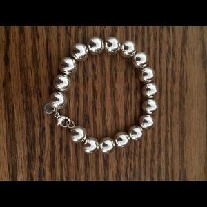 Tiffany & Co. Bead Bracelet, Sterling Silver, New
