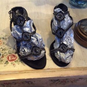 Black Steven sandals 7M