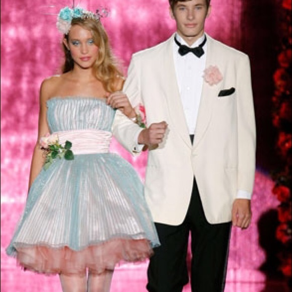Betsey Johnson Dresses | Iridescent Bluepink Prom Dress 10 | Poshmark