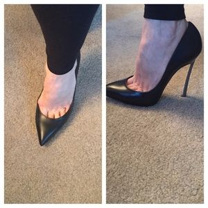 a39afd04ff Casadei Shoes   Nib Authentic Black Pumps W Metal Heel   Poshmark
