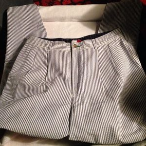 Seersucker Tommy Hilfiger blue and white pants