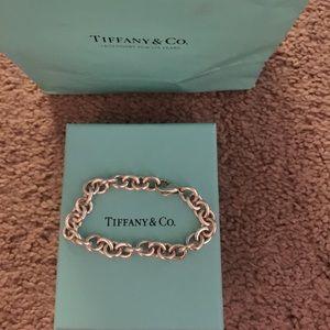 Tiffany & Co sterling silver charm bracelet