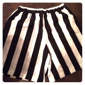 Other - Black/white striped shorts