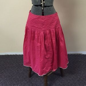 JCrew Pink Linen Skirt