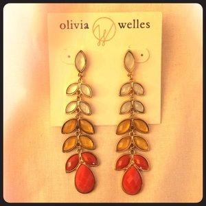 Olivia Welles ombré drop earrings- never worn!!