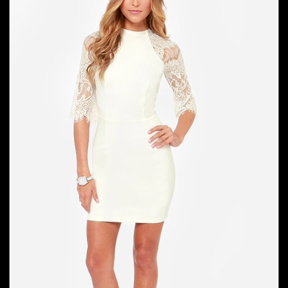 white lace bb dakota bridal shower dress