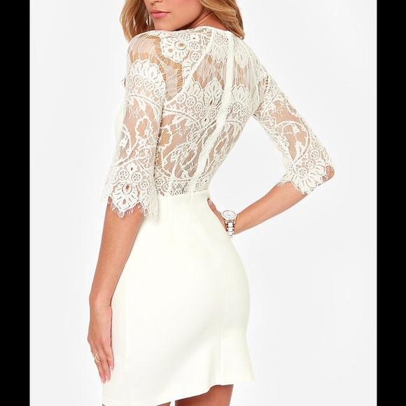 40 off BB Dakota Dresses Skirts White lace BB Dakota bridal