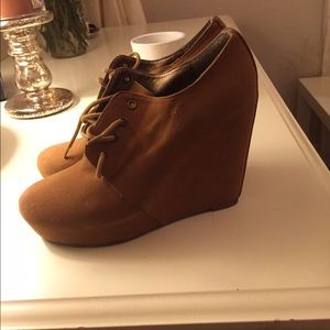 Forever 21 wedge booties!