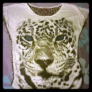 Cheetah print/Gold shirt