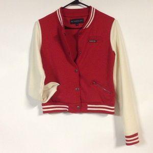Red Baseball-Style Jacket