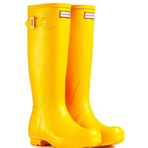Hunter Boots in Yellow 