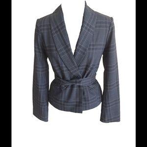 Size M Bill Tornade Gray Plaid Jacket