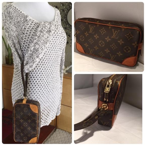 6e91cf7c9 Louis Vuitton Handbags - Louis Vuitton marly Dragonne monogram clutch