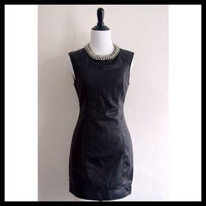 Forever 21 Dresses & Skirts - Black Faux Leather Dress!