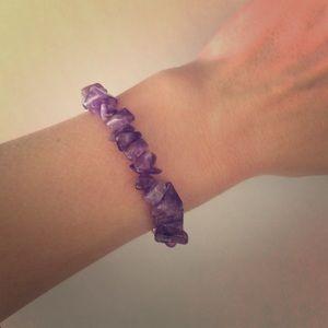 Anthropologie Jewelry - Lavender Amethyst Stone Beaded Bracelet