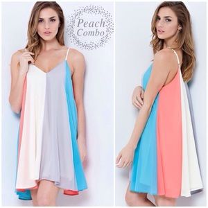 """Cotton Candy"" Colorblock Dress"