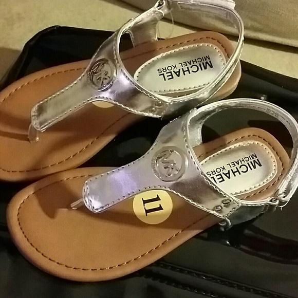 Silver Micheal Kors Sandals | Poshmark