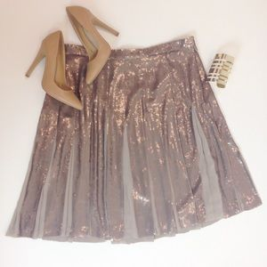 BCBGMaxAzria Dresses & Skirts - BCBG MaxAzria Pleated Sequin Skirt