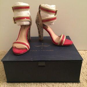 Pour la Victoire Shoes - Pour La Victoire Veronica Ankle Strap Sandal