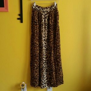Mink pink leopard long skirt