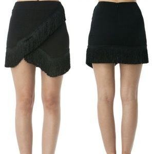 Dresses & Skirts - Reserve:Black halter top Flirty Fringe Mini Skirt!