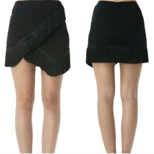 Dresses & Skirts - Flirty Fringe Mini Skirt!