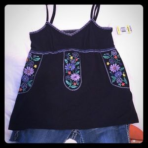 🌞3/$30 Boho chic! Embroidered Tank.