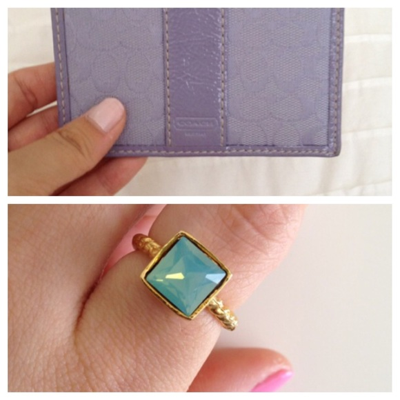 Bundle -coach wallet and ring.