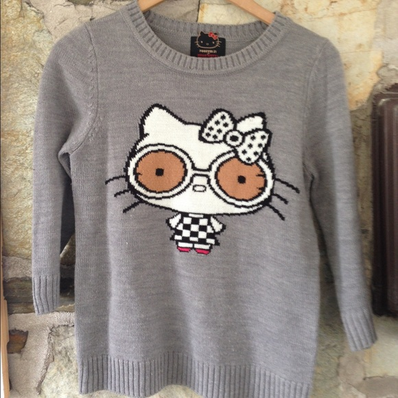 Hello Kitty x Forever 21 mod 70s sweater glasses