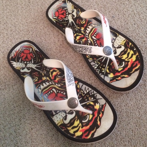 0a1bf2c9417b Ed Hardy Shoes - ED HARDY FLIP FLOP SANDALS SHOES 11